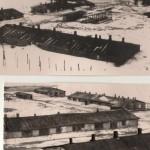 Бараки на ХТЗ, у яких німецько- фашистськими загарбниками було знищено тисячі мирних мешканців м. Харків. Фотознімок. 1941 рік