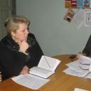 Заступник голови ЕПК, начальник відділу формування НАФ та діловодства архіву   Михасенко Л.О. (справа) відкриває засідання