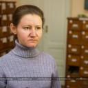 Інтерв'ю до виставки надає головний спеціаліст держархіву Валентина Плисак
