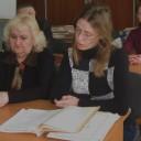 Доповідає головний спеціаліст відділу інформації  та використання документів держархіву області Олена Сафонова