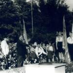 Урочистий мітинг, присвячений 25-річчю визволення Лозівщини від нацистських загарбників. 18 вересня 1968 року.  Фото зроблені в смт Панютине Лозівського  р-ну Харківської  обл.