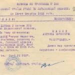 Витяг з протоколу засідання особливої трійки УНКВС по Харківській області від 14 жовтня 1938 року (протокол № 100) про розстріл Зáссе Августа Карловича. Копія. 14 жовтня 1938 р. ф.Р. - 6452, оп. 4, спр. 3312, арк. 23